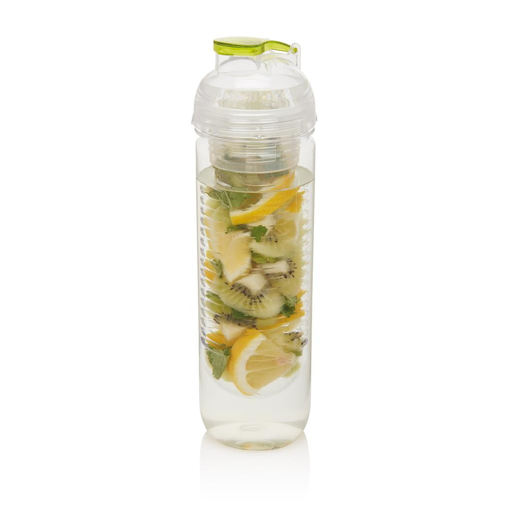 Water fles met fruit infuser 500ml groen