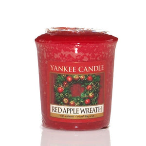 Votive Red Apple Wreath
