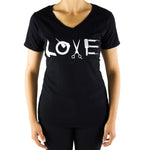 Load image into Gallery viewer, Women's V-Neck LOVE T-Shirt