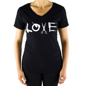 Women's V-Neck LOVE T-Shirt