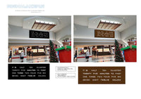 Signmakers concept drawings for the large clock installed in a shopping mall in New Zealand