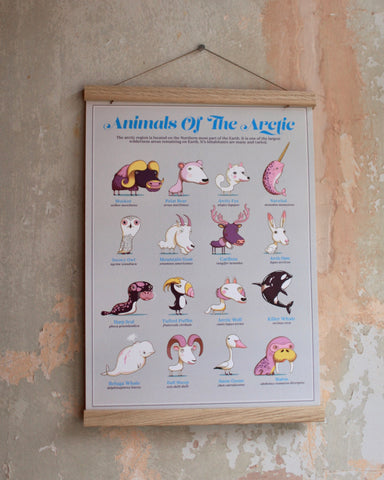 The Children's Guides to Natural History: Animals of Arctic (with solid wood hanger frame)
