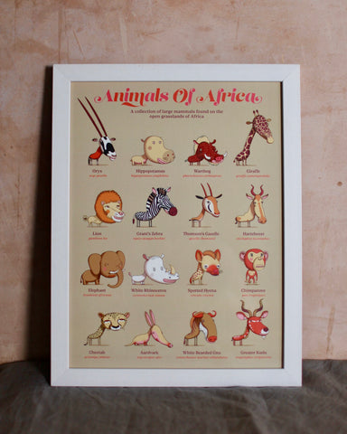 Animals of Africa :The Children's Guides to Natural History. framed