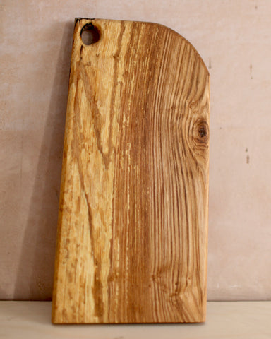 Medium slim spalted beech chopping board with hanging hole