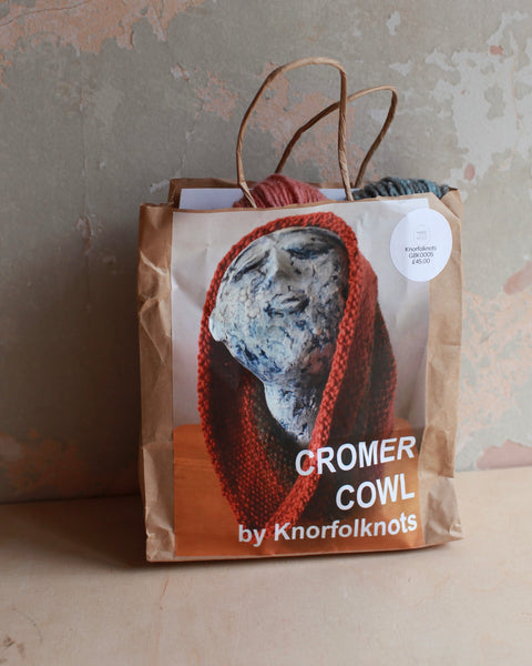 Cromer Cowl knitting kit