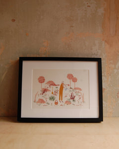 In the Garden Print Framed