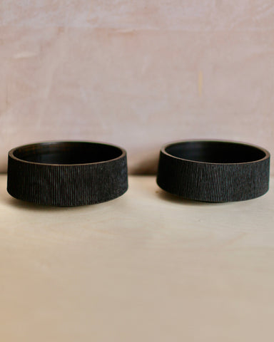 Ebonised Chestnut Bowls