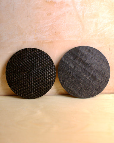 Ebonised textured oak board