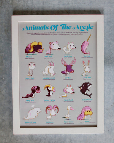 Animals of Arctic : The Children's Guides to Natural History, framed