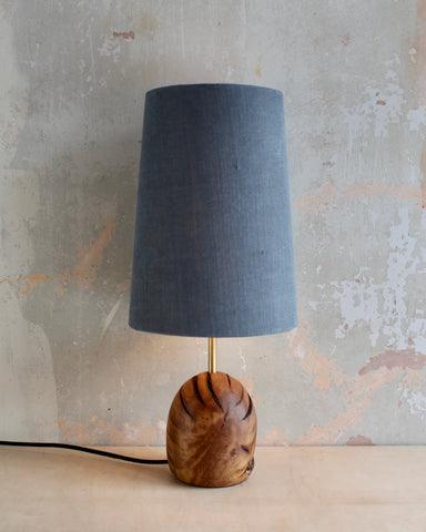 Brown Oak Egg Lamp