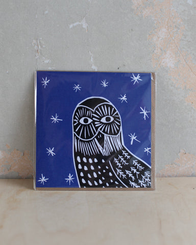 Starry night greetings card