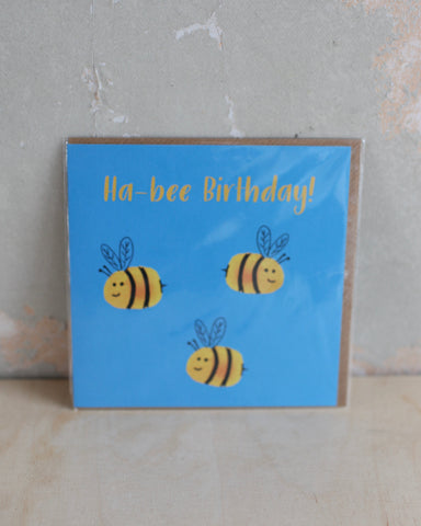 'Ha-bee birthday' Greetings Card