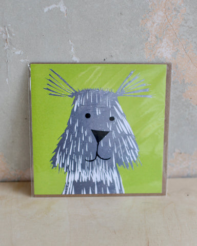 Scruffy Mutt Greetings Card