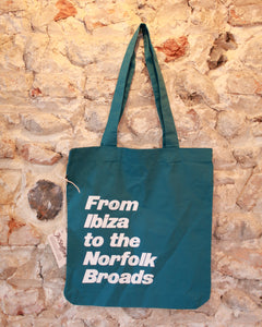 From Ibiza to the Norfolk Broads - Cotton tote bag
