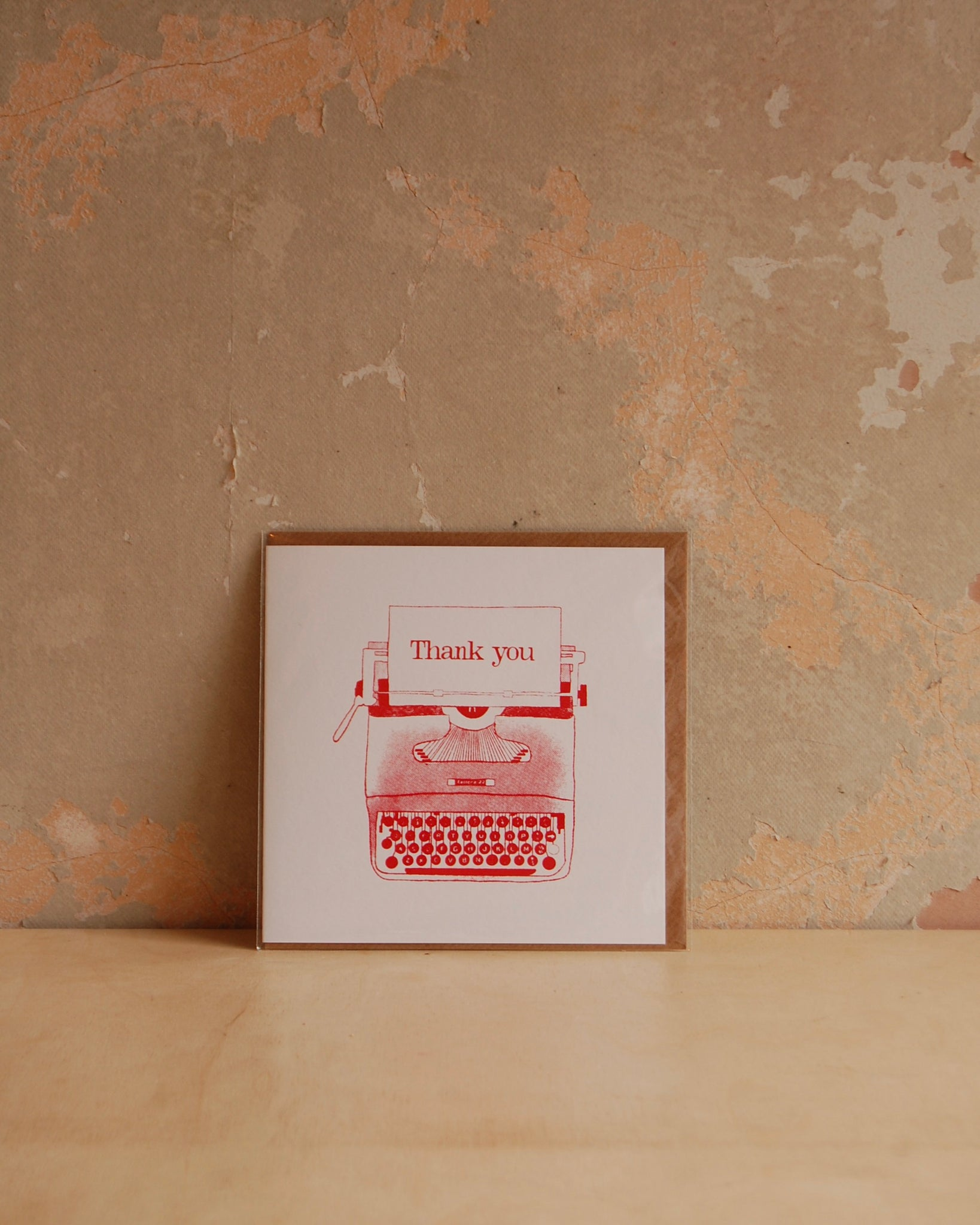 Thank you typewriter card