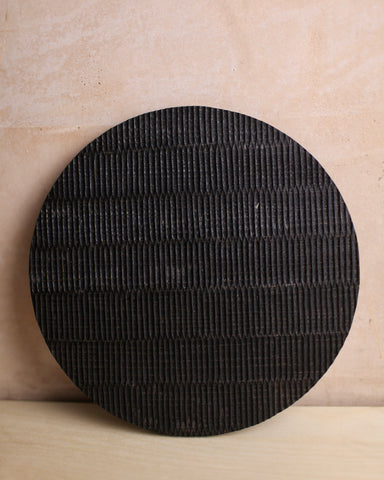 Ebonised textured oak board 1