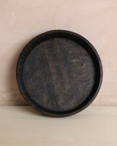 Ebonised oak dish