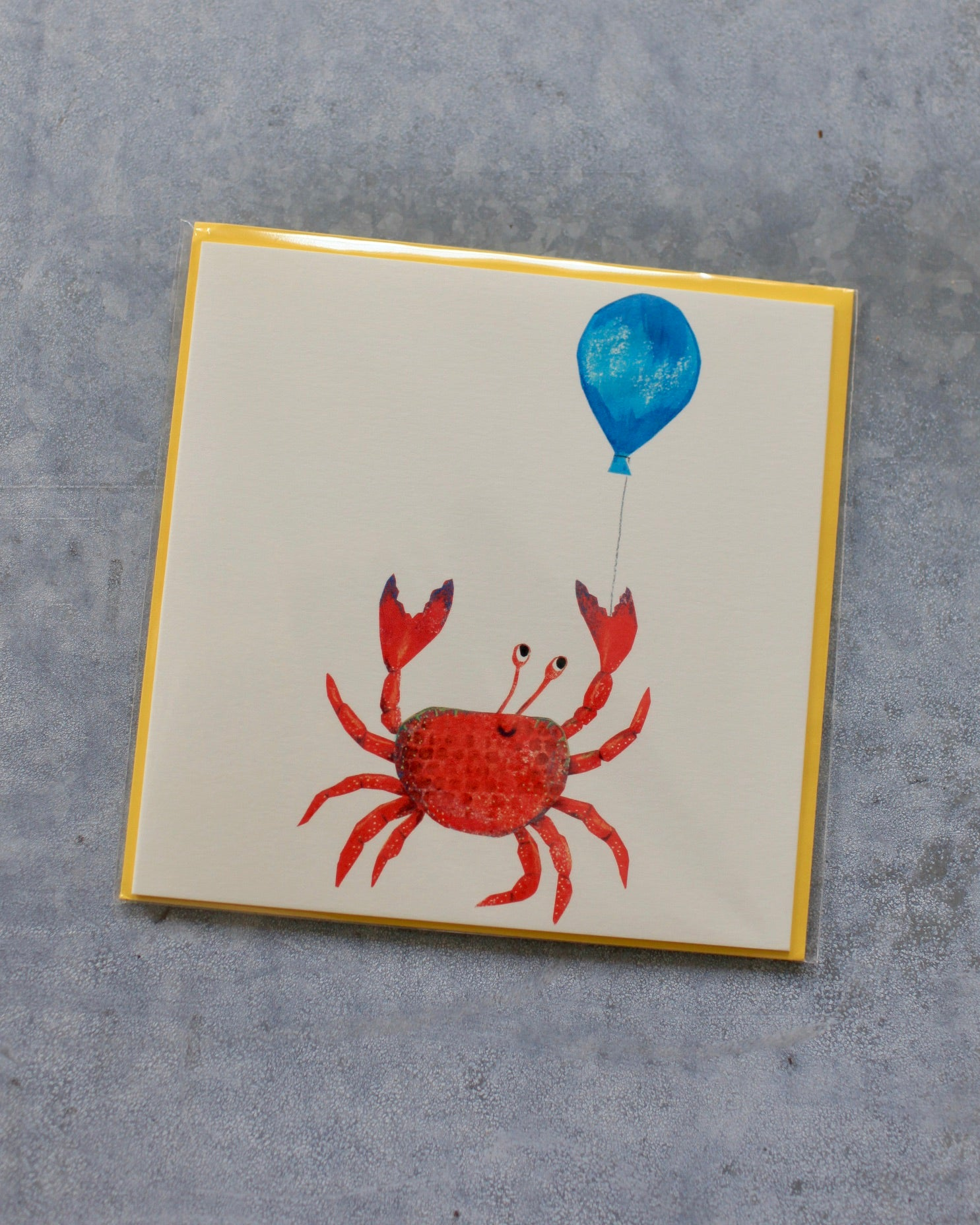 Crab With A Balloon card