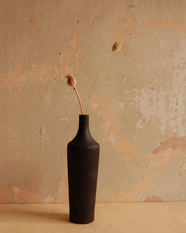Charred Norfolk Ash stem vase