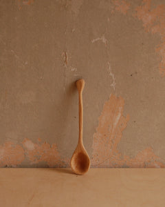 Small Hand carved beech spoon