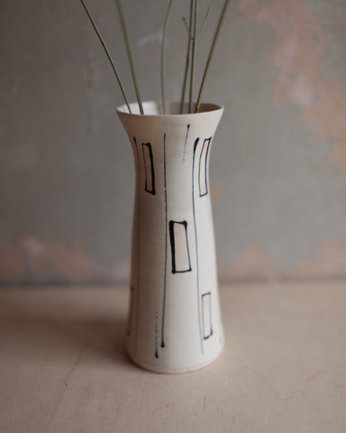 'Archaeology' Tall Stem Vase