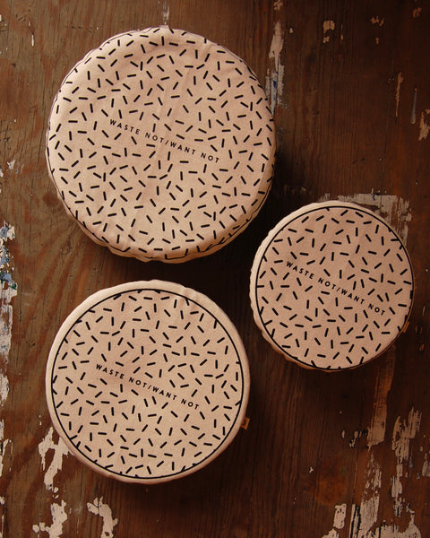 Eco food bowl covers - set of three