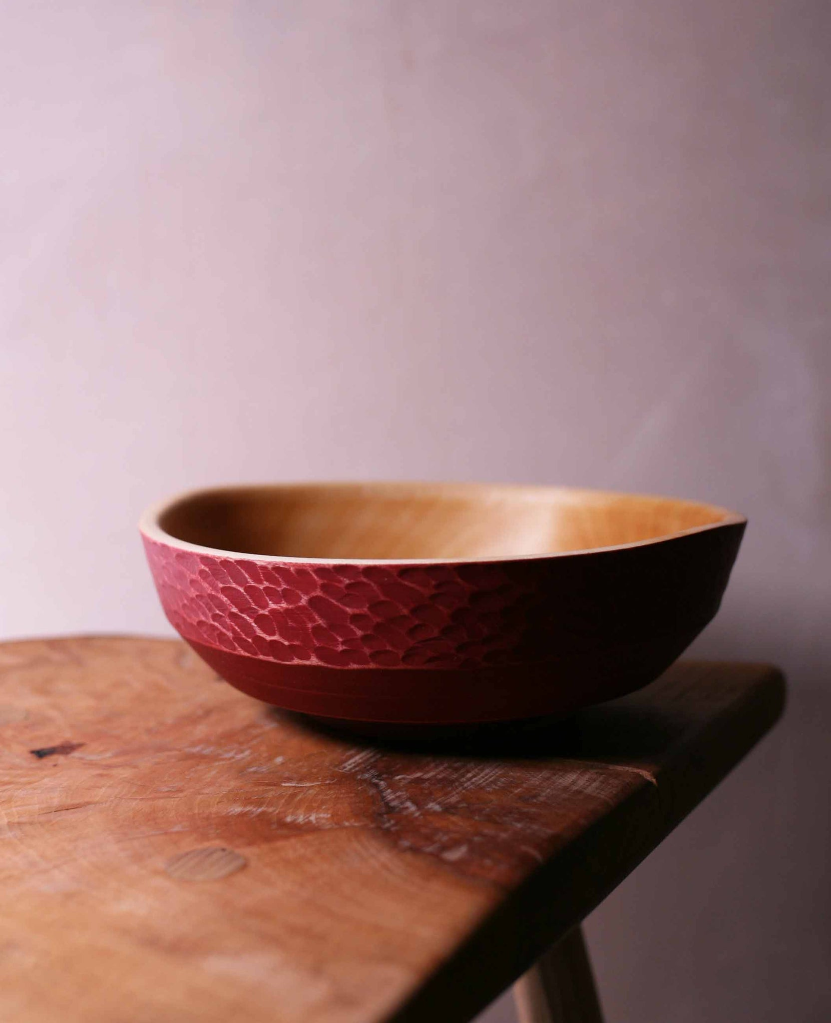 Painted Bowl (red)