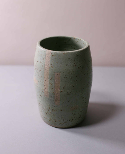 Vase large grey/green