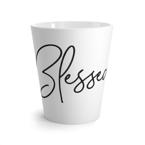 Latte mug White - Blessed