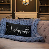 Throw Pillow Black 20in x 12in - Unstoppable