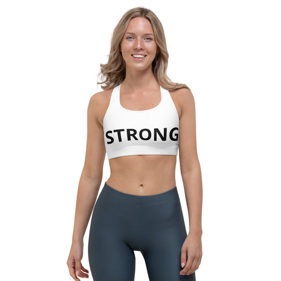 Sports Bra White - STRONG