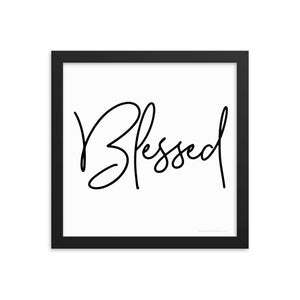 Framed Photo Paper Poster - Blessed