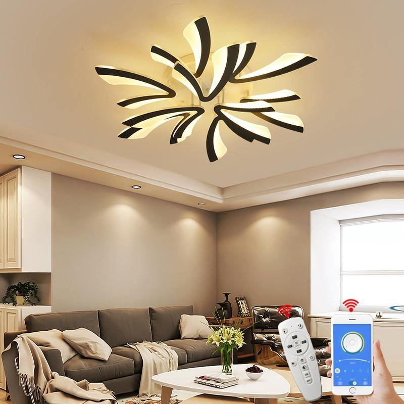 Modern Acrylic Led Ceiling Light Living Study Room Ceiling Lamps Chand Kitchen X Home