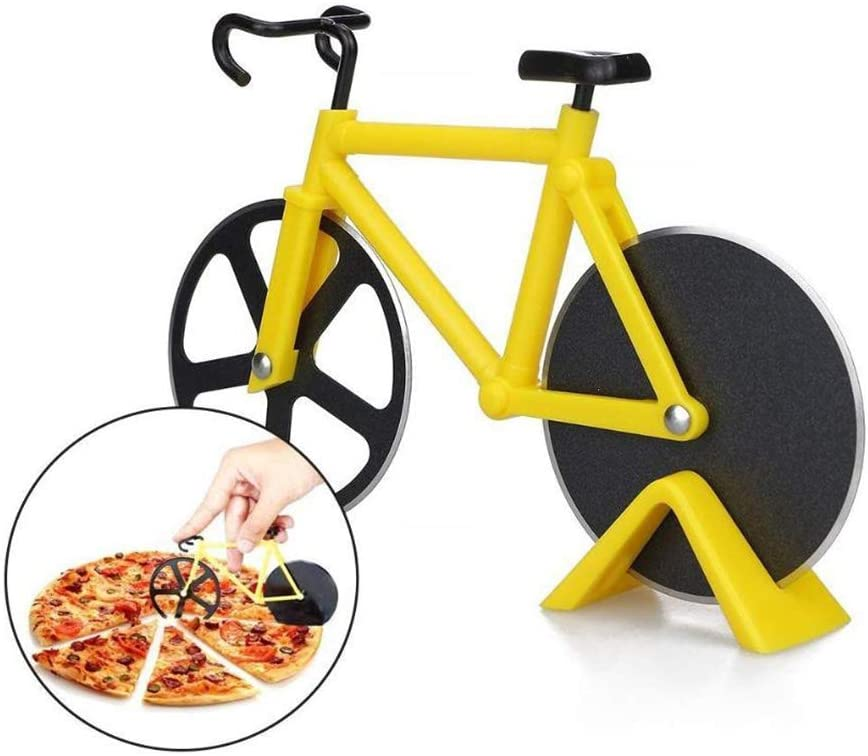 shopify-Stainless Steel Bicycle Pizza Cutter - 3 Colors-2