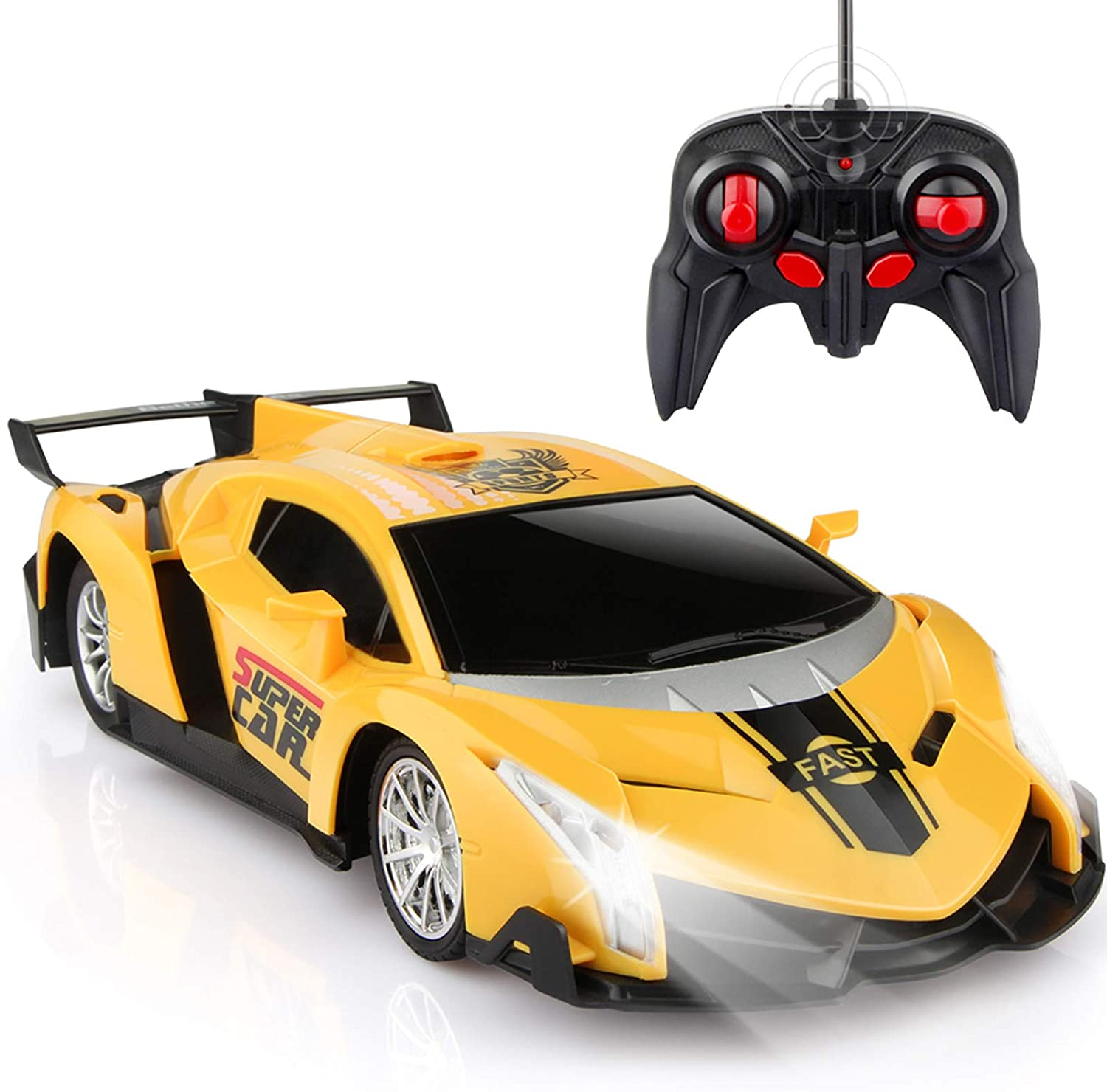 shopify-Electric Remote Control Car with Lights and Controller-1
