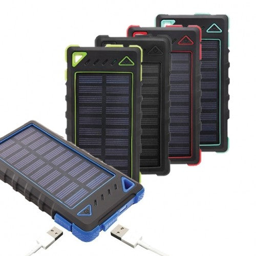 shopify-8,000mAh High Speed 2-Port Solar Power Bank-1
