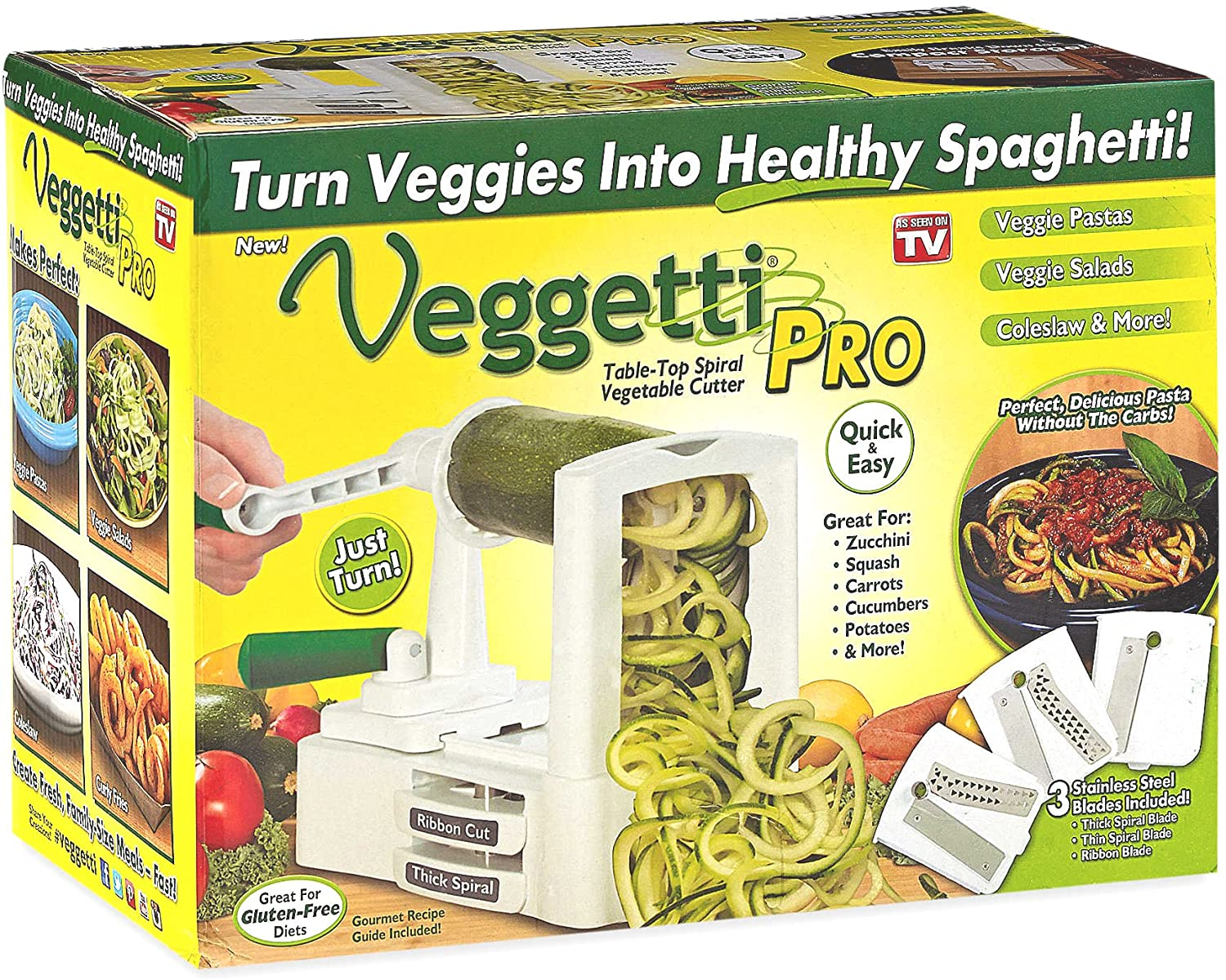 shopify-As Seen On TV Veggetti Pro Tabletop Spiralizer-1