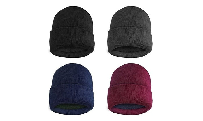 shopify-Fleece Lined Fold Over Thermal Winter Hat-1