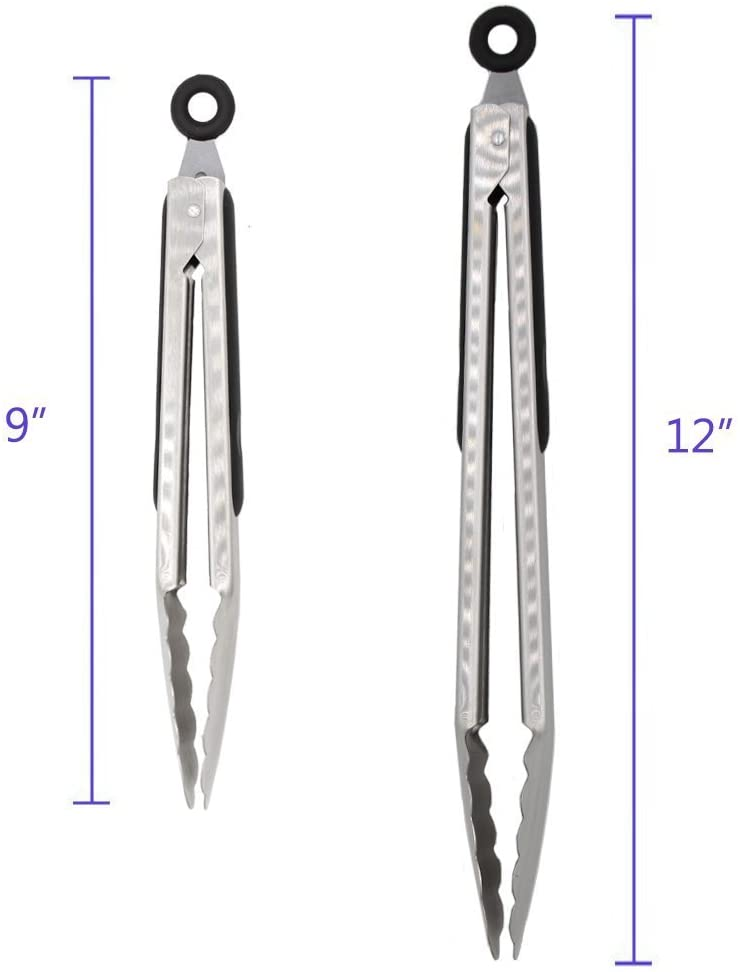shopify-2 Pack: Stainless Steel Kitchen Tongs-4