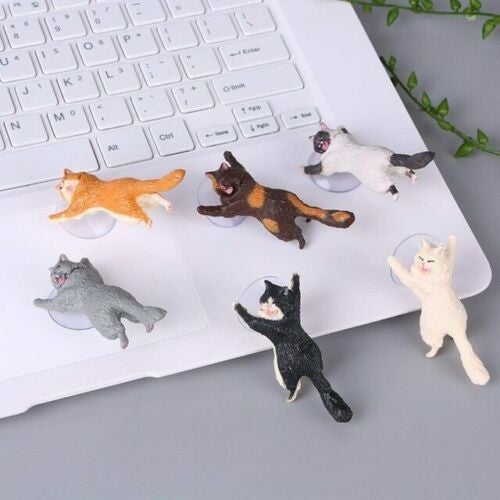 shopify-6 Pack Cat Themed Suction Cup Phone Holder-4