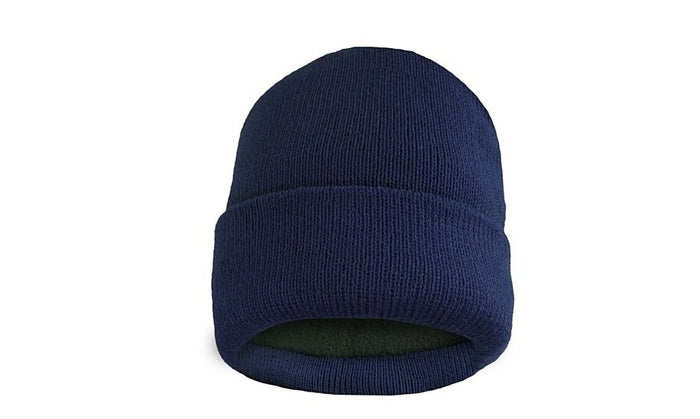 shopify-Fleece Lined Fold Over Thermal Winter Hat-5