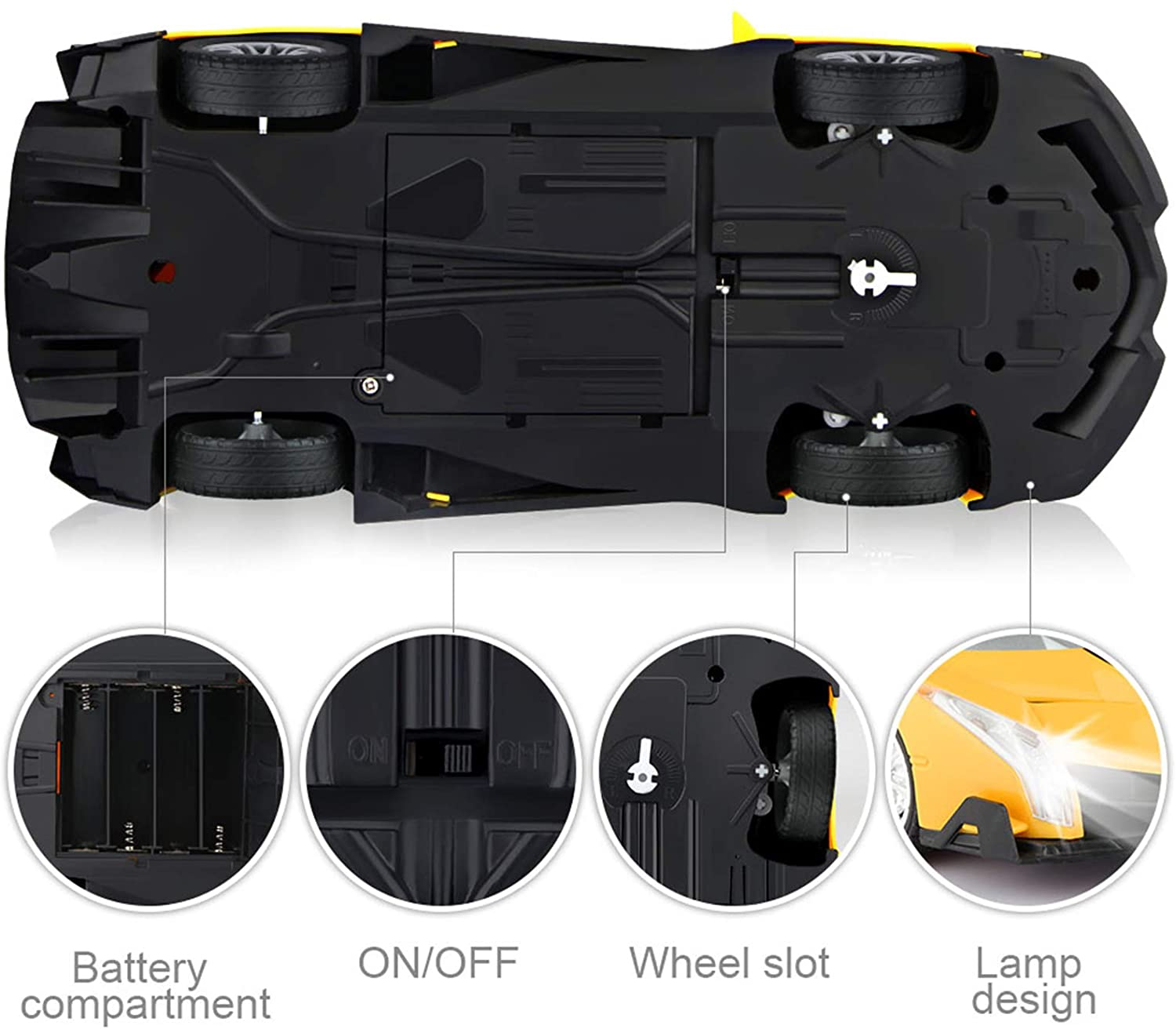 shopify-Electric Remote Control Car with Lights and Controller-3