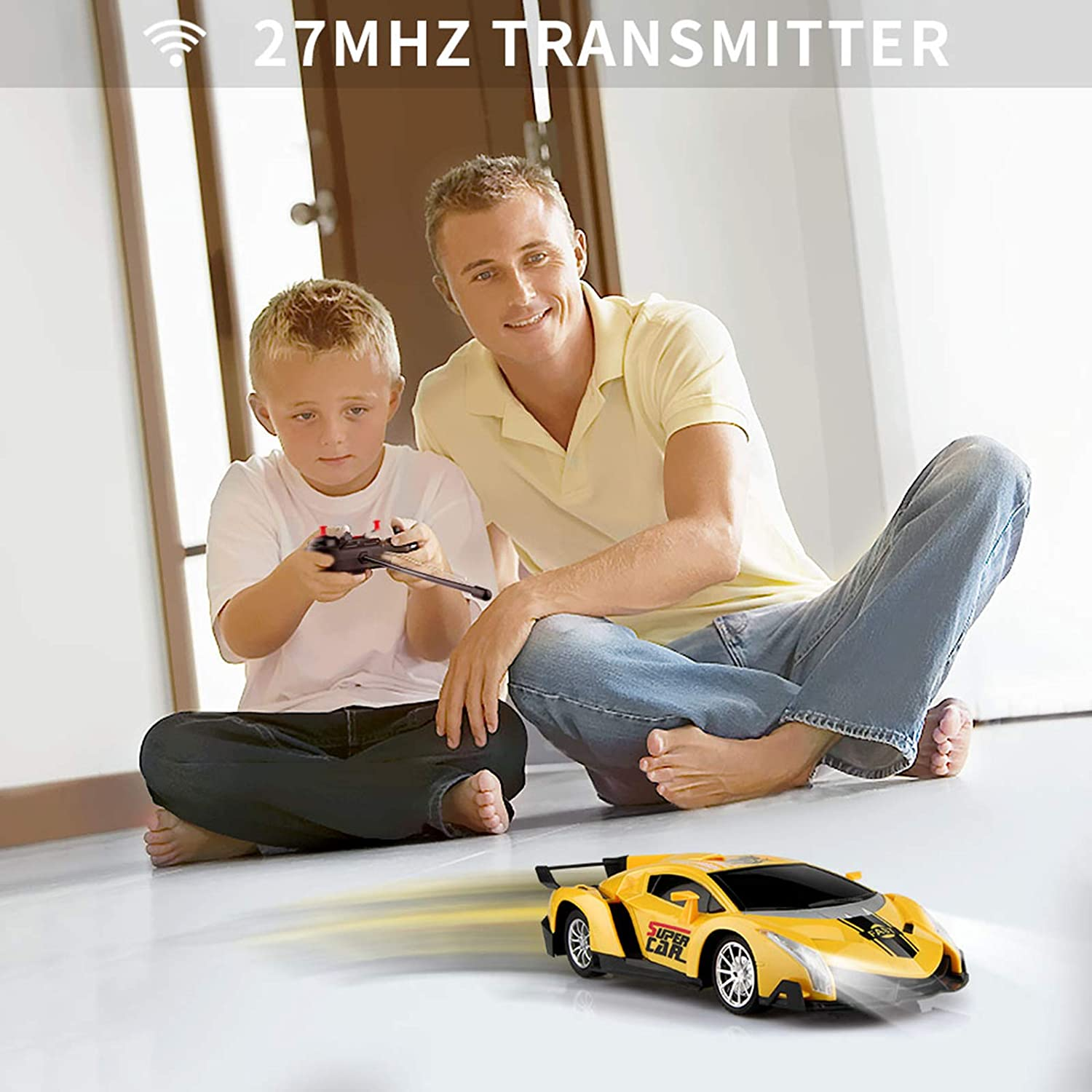 shopify-Electric Remote Control Car with Lights and Controller-4