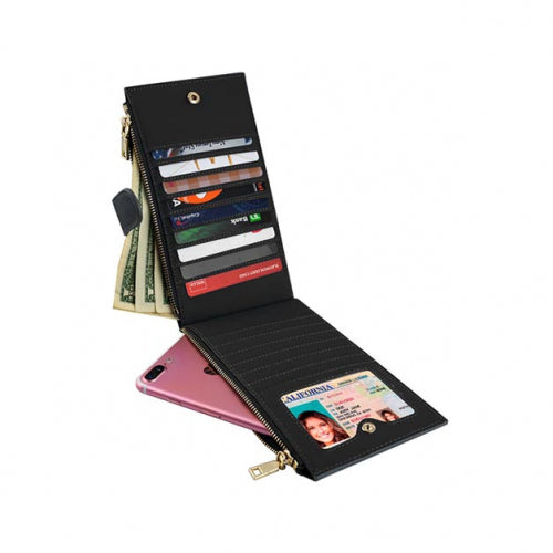 shopify-Multi-Functional Woven RFID Blocking Leather Wallet - 5 Colors-7