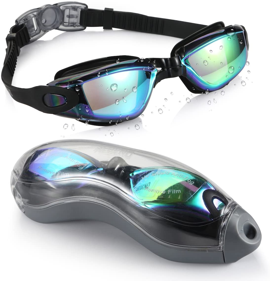 shopify-Anti-Fog Unisex Swim Goggles with Protective Case- 3 Colors-2