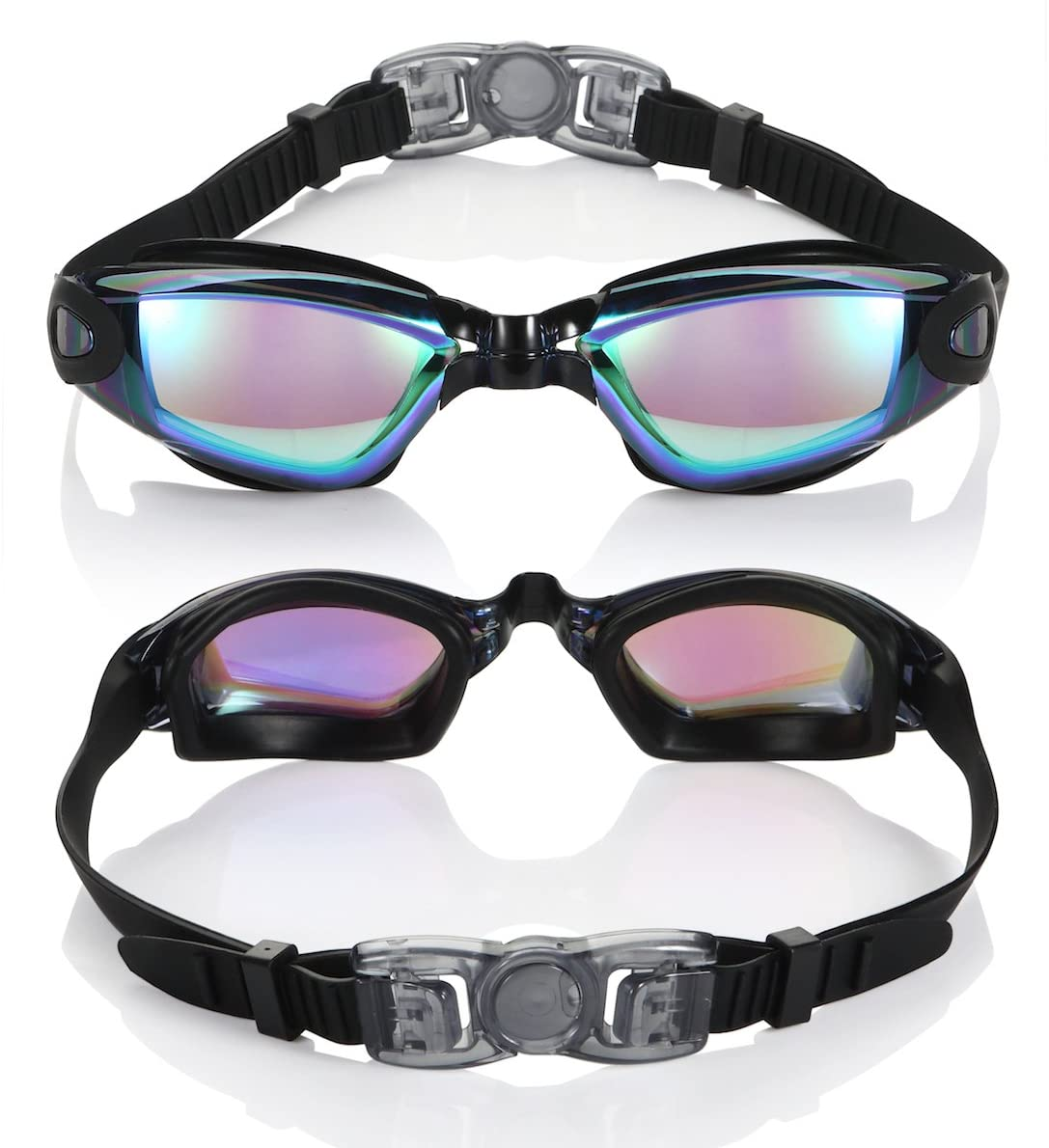 shopify-Anti-Fog Unisex Swim Goggles with Protective Case- 3 Colors-1