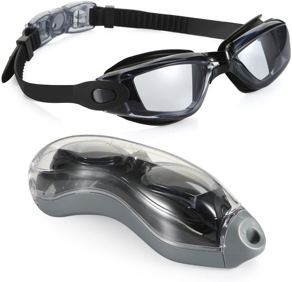 shopify-Anti-Fog Unisex Swim Goggles with Protective Case- 3 Colors-3