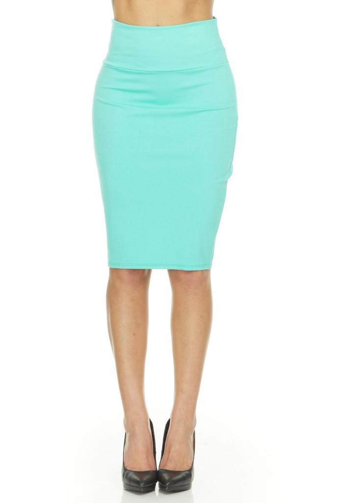 shopify-Fitted Pencil Skirt- 8 Colors-1