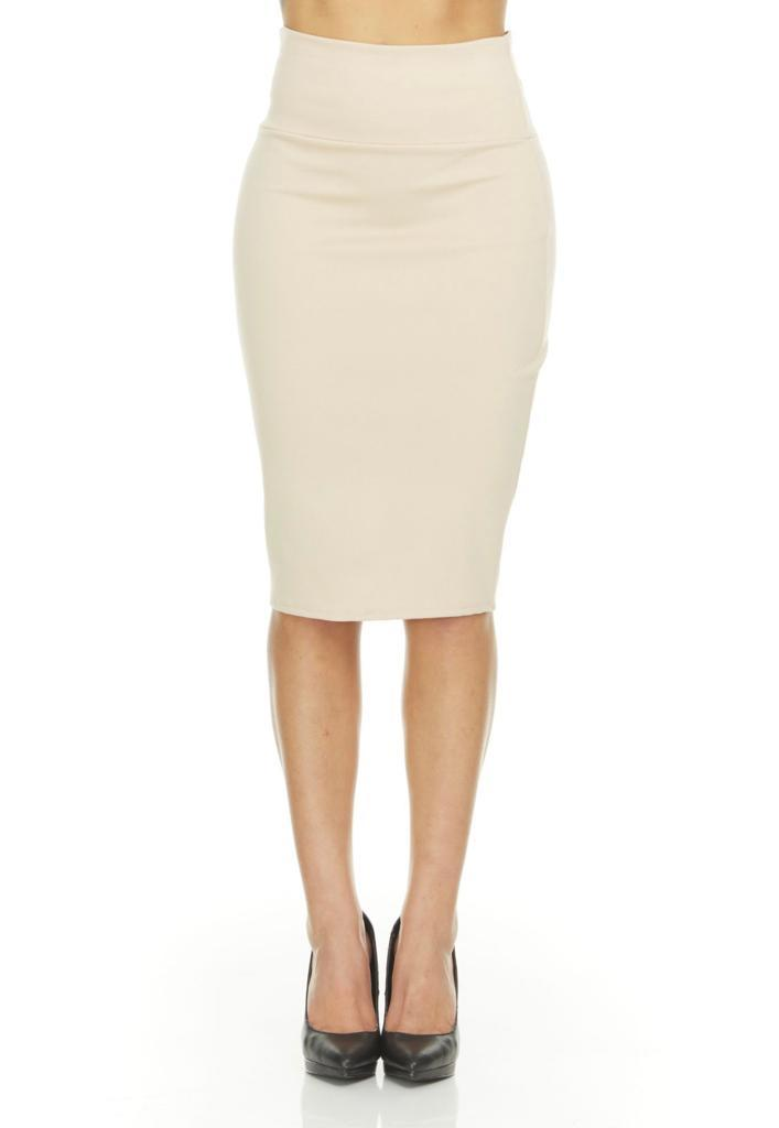 shopify-Fitted Pencil Skirt- 8 Colors-11