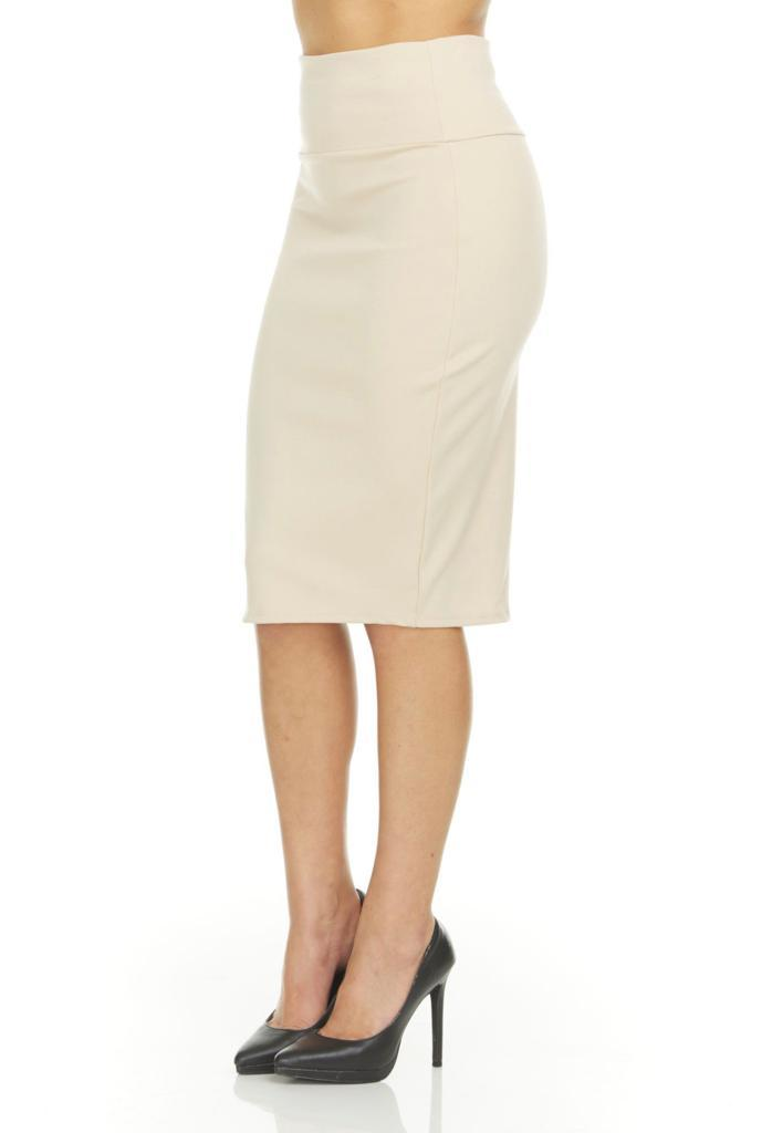 shopify-Fitted Pencil Skirt- 8 Colors-12